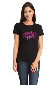 Zynotti Future Mrs Crew Neck Bachelorette Engagement Party Black Shirt
