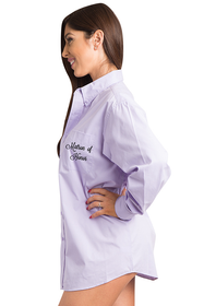 Embroidered Matron of Honor Oversized Oxford Shirt