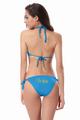 Glitter Print Wifey Bikini With Triangle Top and String Bottom