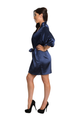 Zynotti Personalized Navy Satin Robe