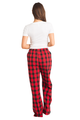 Zynotti personalized custom print red buffalo plaid flannel pajama pants