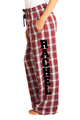 Zynotti personalized custom maroon burgundy plaid flannel pajama pants