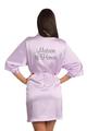 Custom Rhinestone Matron of Honor Satin Robe