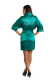 Custom Rhinestone Mother of the Groom Satin Robe