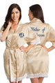 Personalized Embroidered Monogram Mother of the Groom Lace Satin Robe