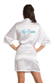 Zynotti's Personalized Embroidered Mrs. Satin Robe in White