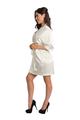 Zynotti's Bridal Satin Kimono robe in Off white