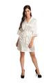 Zynotti's Wedding Party Satin Robe in Off white