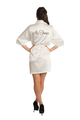 Zynotti's Personalized Embroidered Mrs. Satin Robe in Off-White