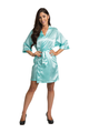 Tiffany Blue Bridesmaid Satin Kimono Robe