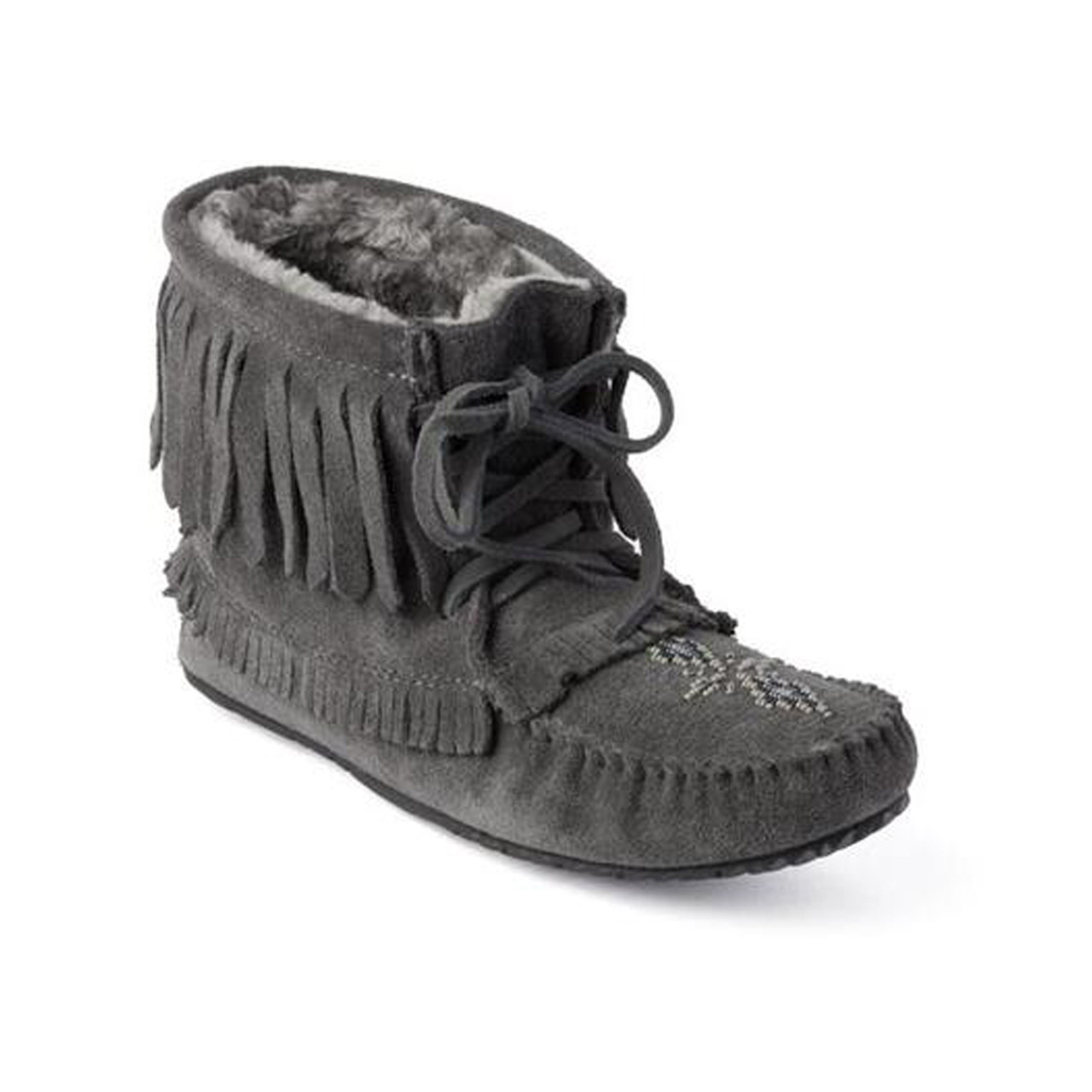 New Manitobah Mukluks Women S Harvester Suede Lined Moccasin Bootie