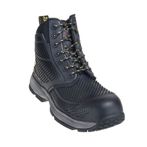 Dr Martens Men's Calamus Safety Toe 7 Eye Boot Black Mesh | Docs R21424001 Black