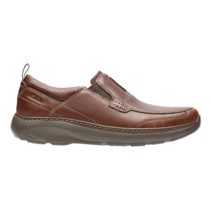 Clarks Men's Charton Step Slip On Brown Leather | Clarks 14996 Brown Leather