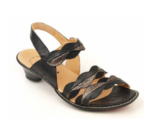 Think Women's Soso 2 Strap Sandal Black/Kombi | Think 84516 09 Black/Kombi