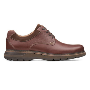 Clarks Men's Un Ramble Lo Oxford Mahogany Leather | Clarks 38290 Mahogany Leather