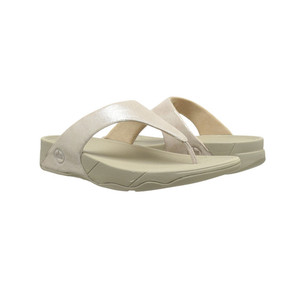 Fitflop Women's Lulu Shimmersuede Thong Nude