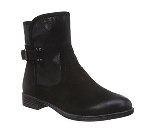 Tamaris Women's 25306 Ankle Boot Black/Black