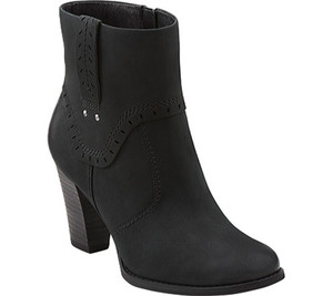 Clarks Alpine Gale Black Leather Ladies Ankle Boots | Clarks 66333 Black Leather
