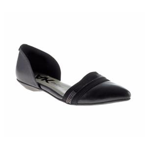 Anne Klein Women's On My Way Flat Black Leather