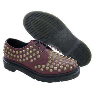 Dr Martens Harlen Oxford Cherry Studs Ladies Casual Shoes