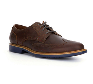 Cole Haan Men's Great Jones Wingtip Oxford Copper/Blazer Blue | Cole Haan C21826 Copper/Blue
