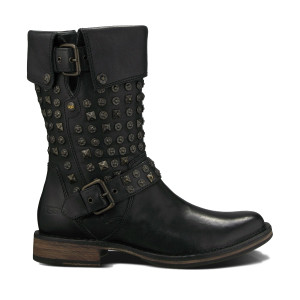 UGG Conor Studs Boot Black Leather Ladies
