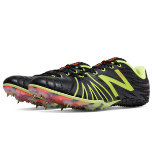 New Balance Men's MSD100BY SD100 Spike Track Spikes Black/Yellow
