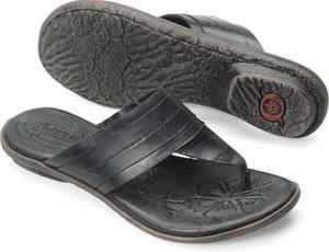 Born Women's Tai Thong Sandal Black Leather