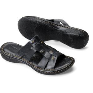 Born Beah Slide Sandal Black Ladies