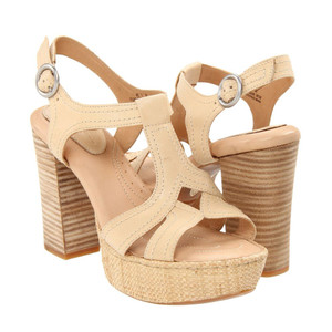 Born Shanna High Heel Sandals Natural Ladies