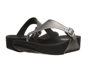 Fitflop Women's The Skinny Thong Pewter | Fitflop A96-054 Pewter