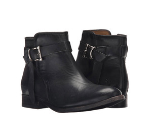 FRYE Women's Melissa Knotted Short Boot Black Polished Stonewash