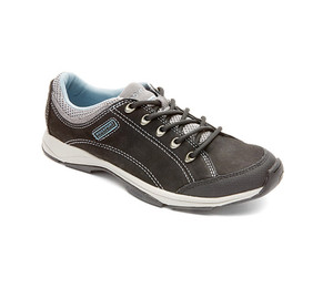 Rockport Women's Sidewalk Expressions Chranson Sneaker Black Nubuck 5 | Rockport M75540 Black Nubuck