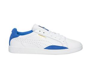 Puma Women's Match Lo Basic Sports Tennis Shoe White/Blue