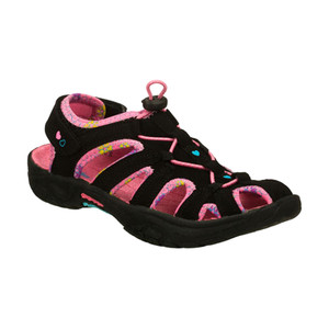Skechers Fairy Trail Black Multi Girls Sport Sandals