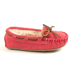 Minnetonka Girl's Cassie Slipper Hot Pink | Minnetonka 4815 HPK