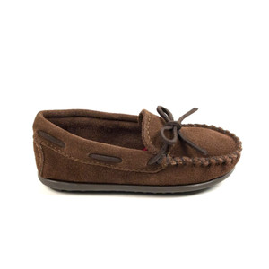 Minnetonka Boy's Moc Slip On Chocolate | Minnetonka 2773 CHO