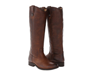 FRYE Women's Melissa Button Boot Dark Brown