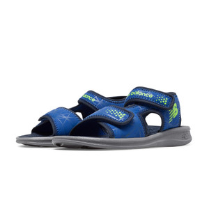 New Balance Boy's Sport Sandal Grey/Blue | New Balance K2031GBL Grey/Blue