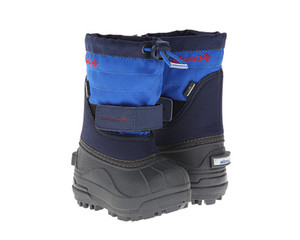 Columbia Toddler Powderbug Plus II Snow Boots Collegiate Navy/Chili