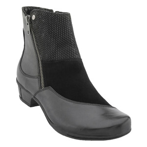 Earth Women's Orion Ankle Boot Black Leather | Earth Orion Black Lea