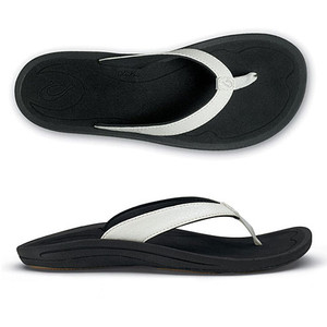 Olukai Kulapa Kai White/Black Ladies | Olukai 20198-4R40 White/Black