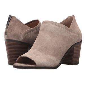 Lucky Brand Women's Kalli Peep Toe Bootie Brindle Oiled Suede
