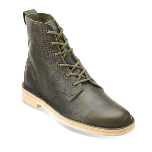 Clarks Men's Desert Mali Ankle Boot Leaf Leather