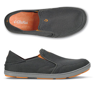 Olukai Nohea Mesh Dark Shadow Mens Loafers