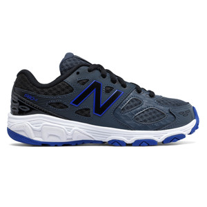 New Balance Boy's KR680PTY Athletic Shoe Grey/Blue/Blk | New Balance KR680PTY Grey/Blue/Blk