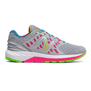 New Balance Girl's KJURGGSY Athletic Shoe Grey/Pink | New Balance KJURGGSY Grey/Pink