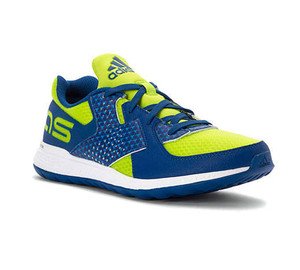 Adidas Boy's Force Bounce Athletic Shoe Slime/Blue