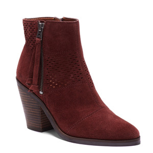 Lucky Brand Women's Ramses Ankle Boot Sable Oiled Suede