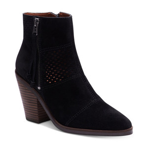 Lucky Brand Women's Ramses Ankle Boot Black Oiled Suede